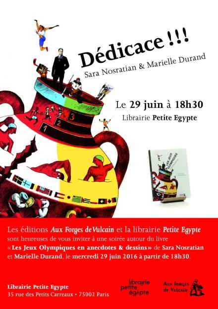 Invitation Dedicace JO Petite Egypte